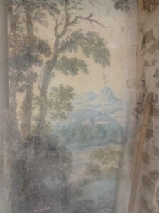 Landschaftszimmer Erdgeschoss, dekorative secco Malerei