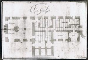 Originalpläne des Architekten Adolph v. Vagedes
